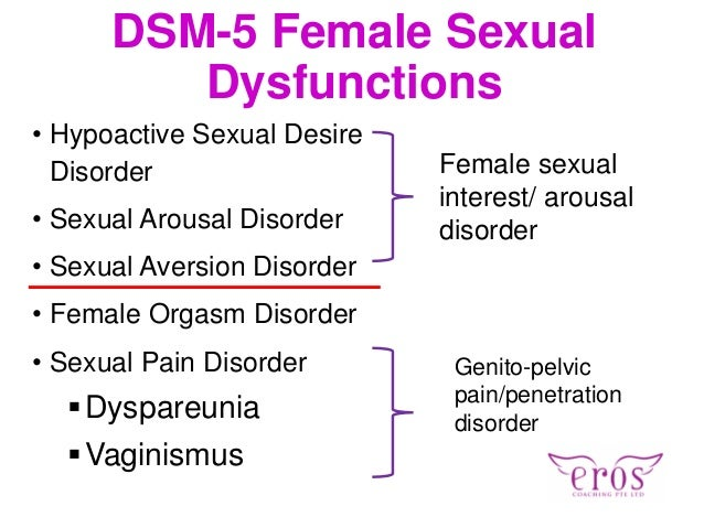 Sexual dysfunction disorder dsm