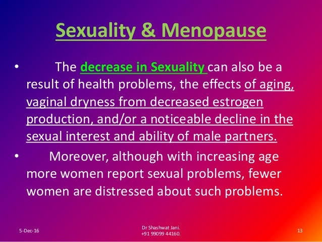 Sexuality and aging in women