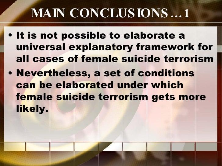 Female Sucide Terrorism Reconsidered Slide 2