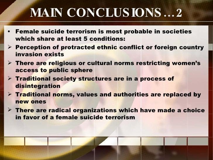 Female Sucide Terrorism Reconsidered Slide 3