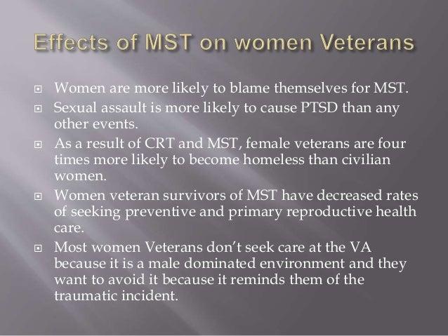 A study of post traumatic stress disorder on veteran women
