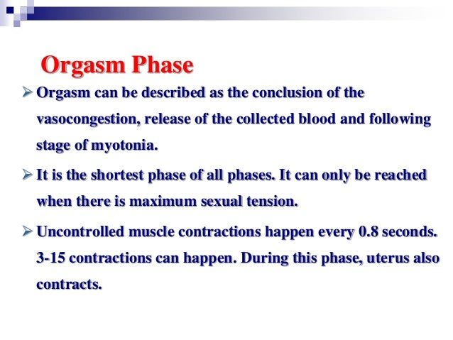 Phases of orgasm