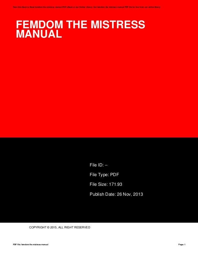 Femdom instruction manual
