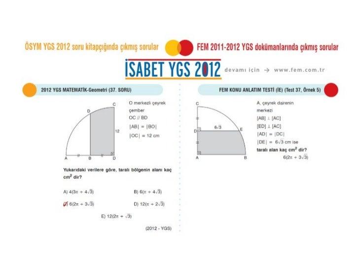 ÖSYM 2012 YGS Geometri Soruları