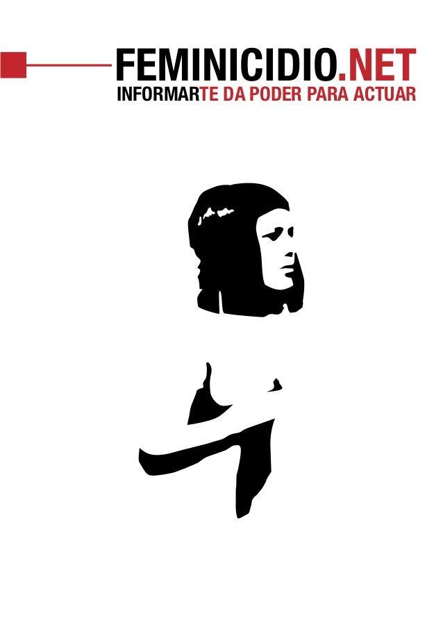 FEMINICIDIO.NET INFORMARTE DA PODER PARA ACTUAR