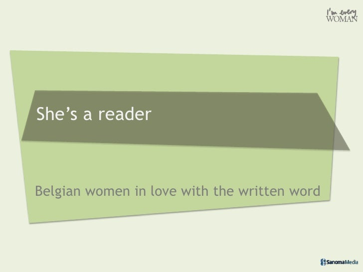 Belgian women love reading