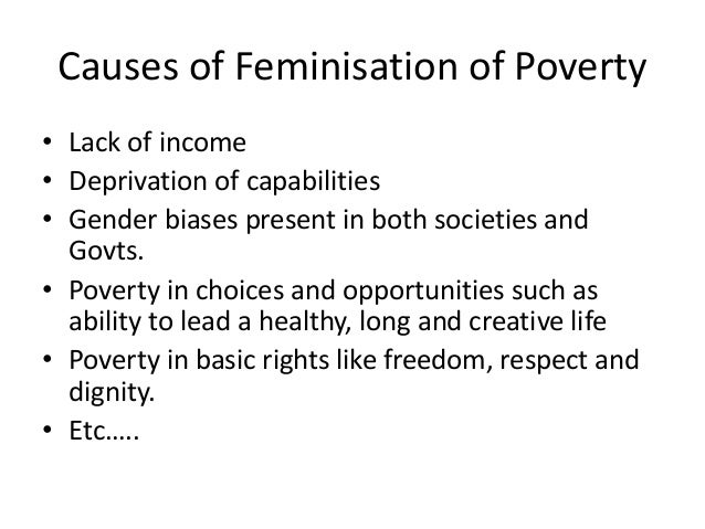 feminisation of poverty
