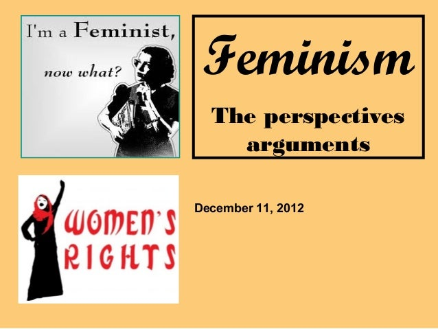 Feminism  The perspectives    argumentsDecember 11, 2012