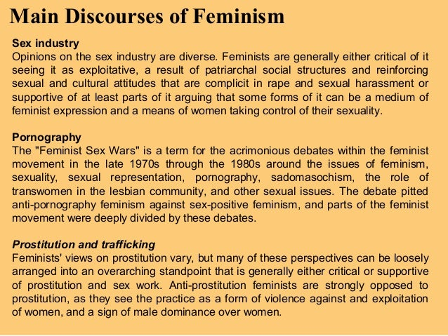 the anti pornography feminist movement essay Feminist views on pornography the feminist anti-pornography movement was galvanized by the publication of ordeal, in which linda boreman.