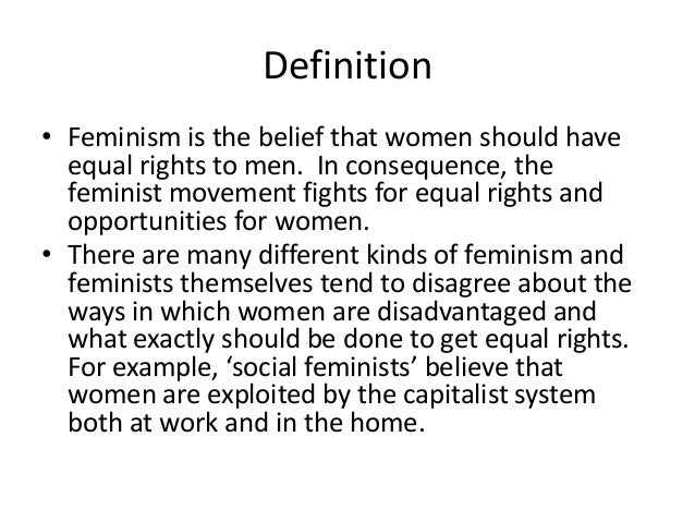 Superb Feminist Theory Definition