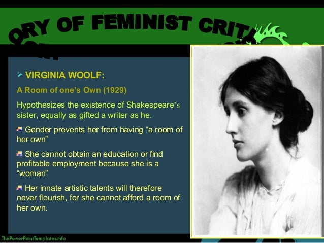 analyse the contribution of virginia woolf to feminism