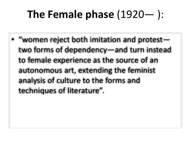 The feminist approach essay