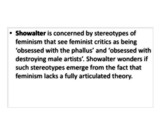 elaine showalter gynocriticism