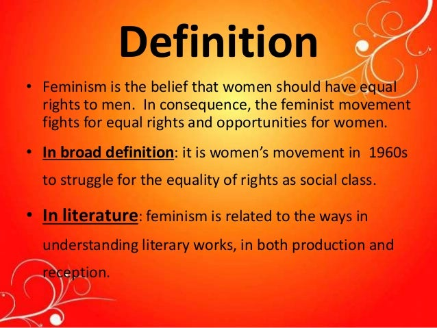definition of feminism in literature