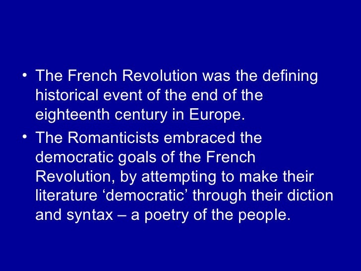 an analysis of the french revolution at the end of eighteenth century During the eighteenth century  really triumph until the second half of the nineteenth century until about 1840 french  economic and social conditions in france .