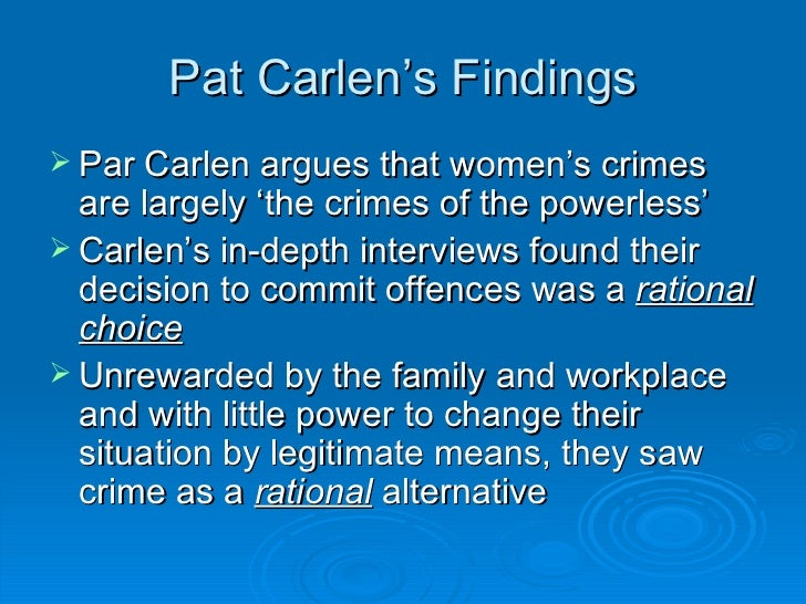 gender and crime Topics in this unit will include: theorising gender and crime gender, crime and  history contemporary issues in gender and crime women as.