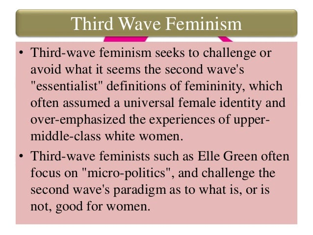 thesis feminism Abstract the thesis is about the re-incorporation of women, on feminist terms, in corporate law and structureworking from the idea of feminism as a theory about exclusion, the thesis endeavours to indude women's voices in how the.