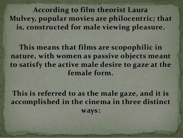 The signs in the Hollywood film convey the patriarchal ideology that underlies our social structure and that constructs wo...