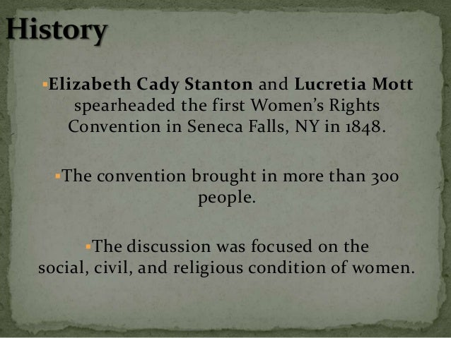 The convention marked a 22 year battle to gain  women the right to vote in the United States. In 1920 women won the righ...