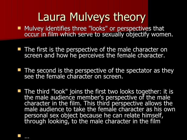 laura mulveys essay Laura mulvey is a british film theorist who wrote visual pleasure and narrative cinema in 1973, articulating the problematic relationship between (film.