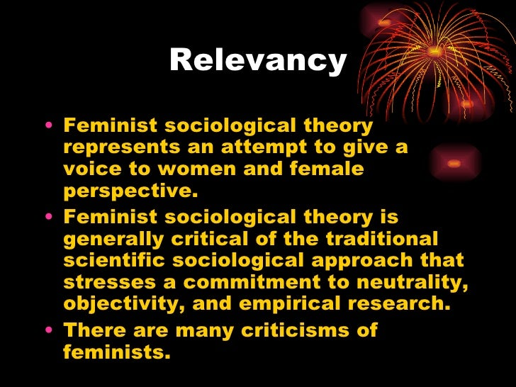 """a feminist perspective on the female That we even need to talk about """"women and war"""" underscores the gendering of our construct of war war has been perceived as men's domain, a masculine endeavor for which women may serve as victim, spectator, or prize women are denied agency, made present but silenced perhaps that is why so many feminist."""