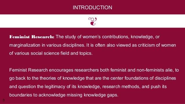 Research paper feminism
