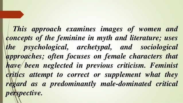 a view of archetypal and feminist What do feminists mean when they refer to a patriarchal society what is a feminist theory of patriarchy  power as an exception to a collectively held view of .