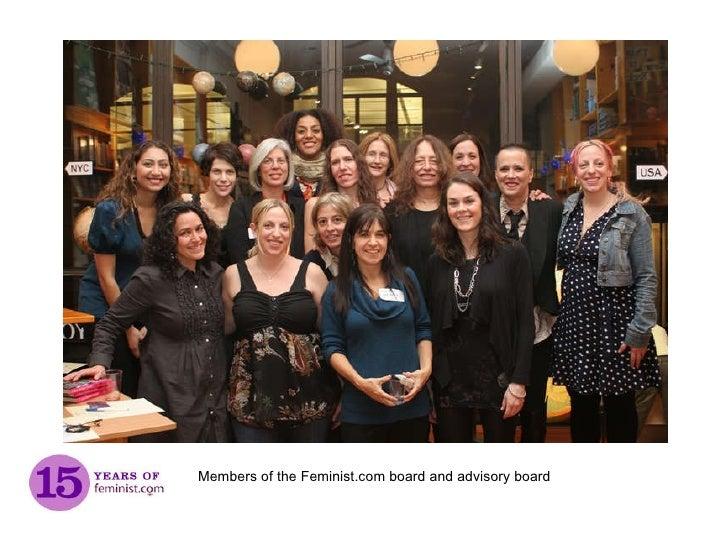 Members of the Feminist.com board and advisory board