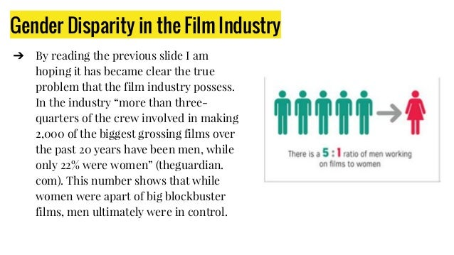 Gender Disparity in the Film Industry ➔ By reading the previous slide I am hoping it has became clear the true problem tha...