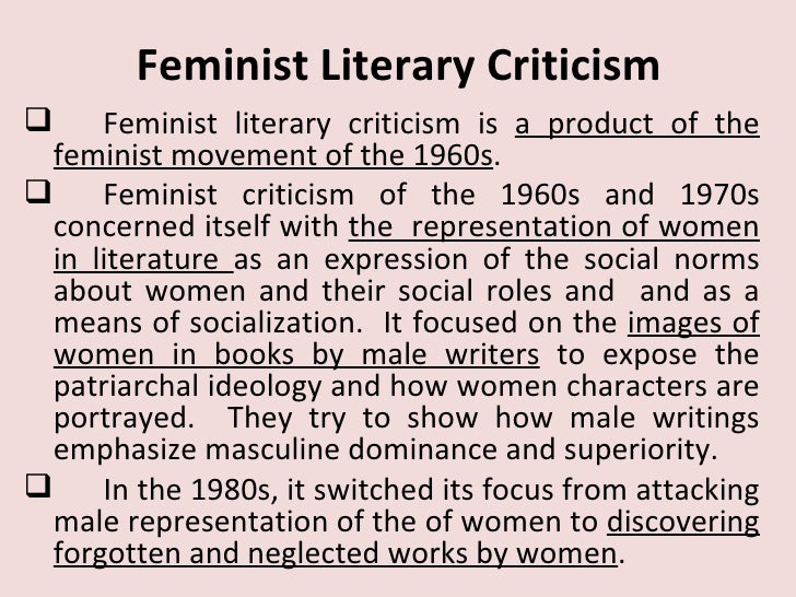 feminist criticism sparknotes