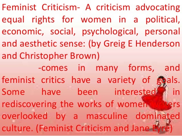 criticizing feminist criticism essay Home feminism post-feminism: an essay post-feminism: an essay talking about one particular anthology of 'male feminist' criticism she observes that.