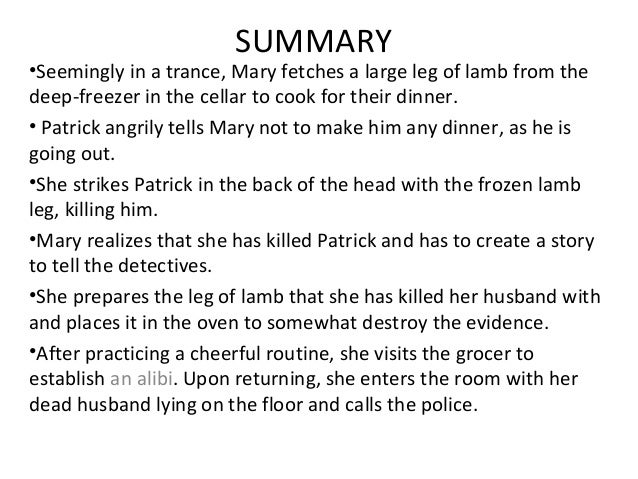 short summary of lamb to the slaughter