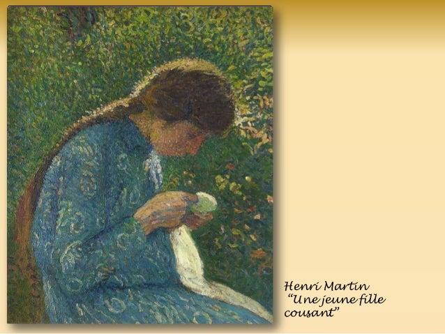 Henri Martin ―Une jeune fille cousant‖