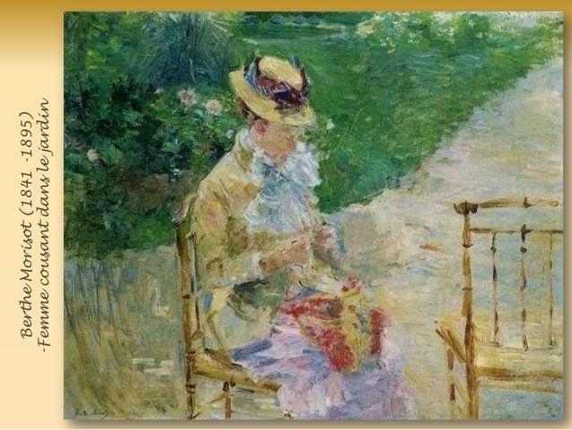 BertheMorisot(1841-1895) -Femmecousantdanslejardin