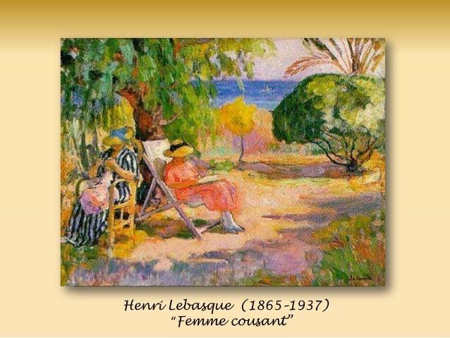 """Henri Lebasque (1865–1937) """"Femme cousant‖"""