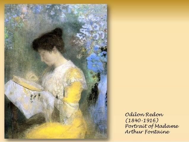 Odilon Redon (1840-1916) Portrait of Madame Arthur Fontaine