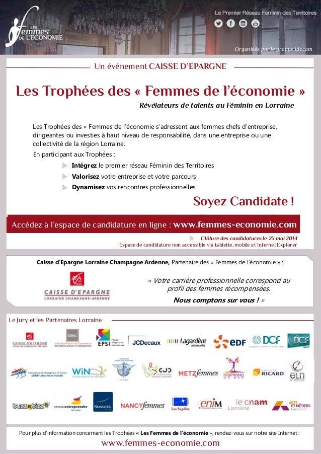 Pour plus d'information concernant « Les Femmes de l'économie », rendez-vous sur notre site Internet : www.femmes-economie...