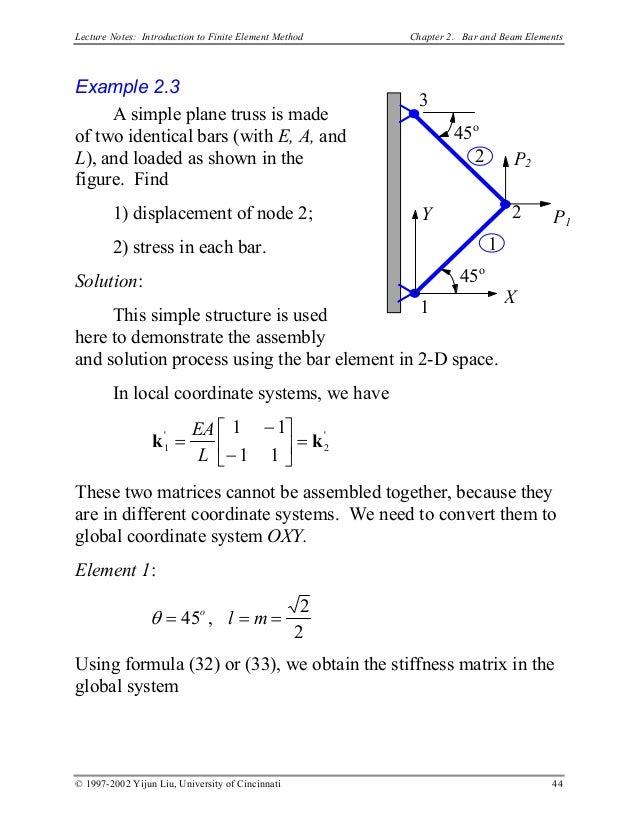 Finite Element Methode (FEM) Notes