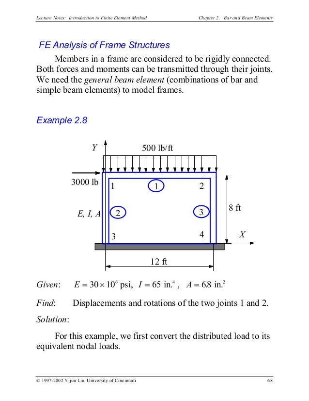 Finite Element Methode (FEM) Notes