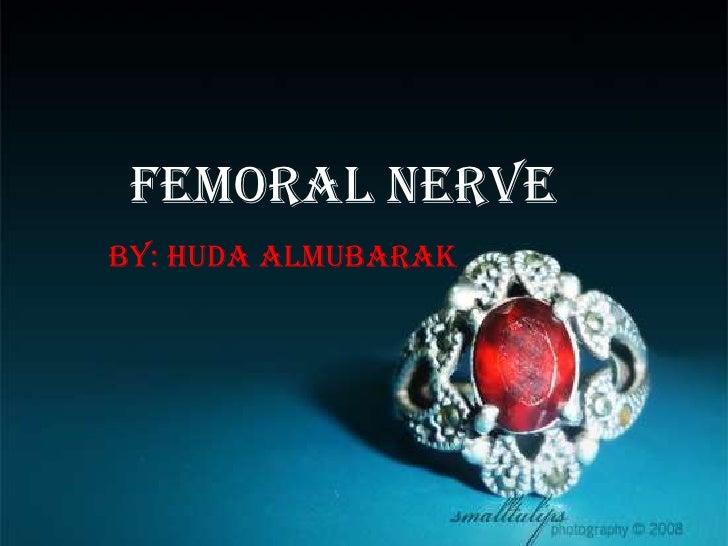Femoral Nerve <br />By: Huda Almubarak<br />