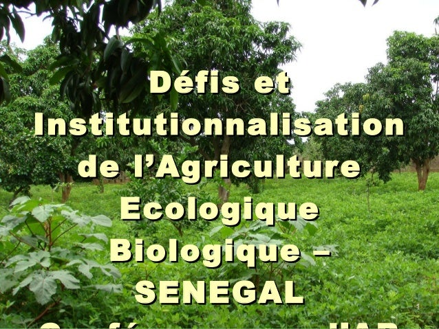 11 Défis etDéfis et InstitutionnalisationInstitutionnalisation de l'Agriculturede l'Agriculture EcologiqueEcologique Biolo...