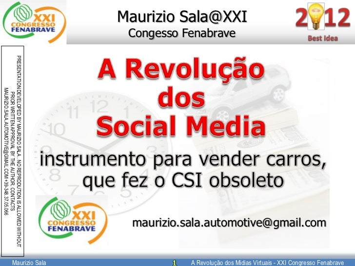 A Revolução dos Midias Virtuais - XXI Congresso Fenabrave                                                                 ...
