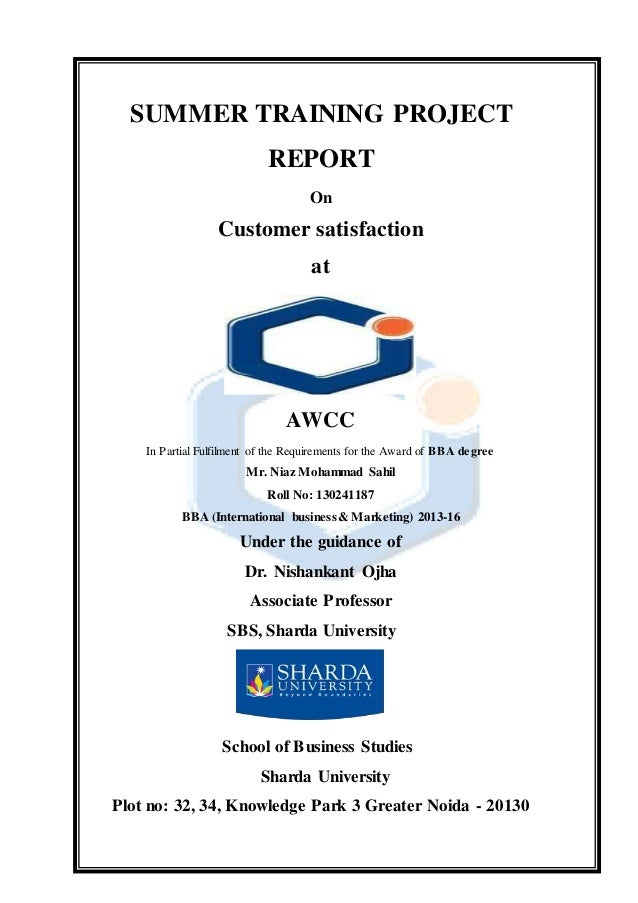 Project Report On Awcc(Afghan Wireless Communication Co..
