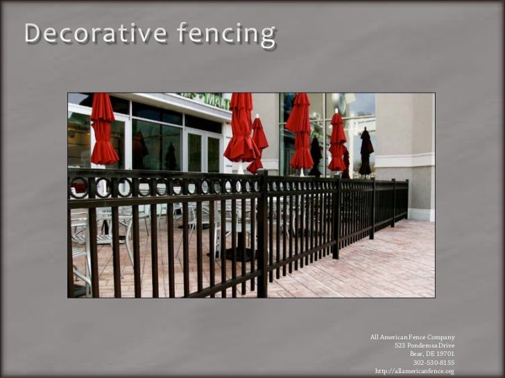 Fence Contractor Delaware All American Fence Company
