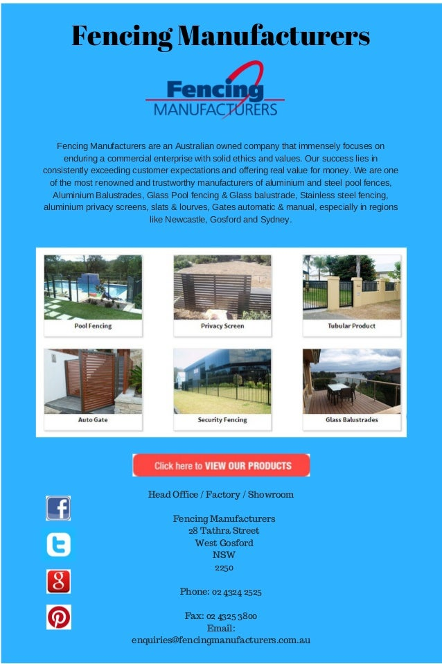 Fencing Manufacturers FencingManufacturersareanAustralianownedcompanythatimmenselyfocuseson enduringacommercia...