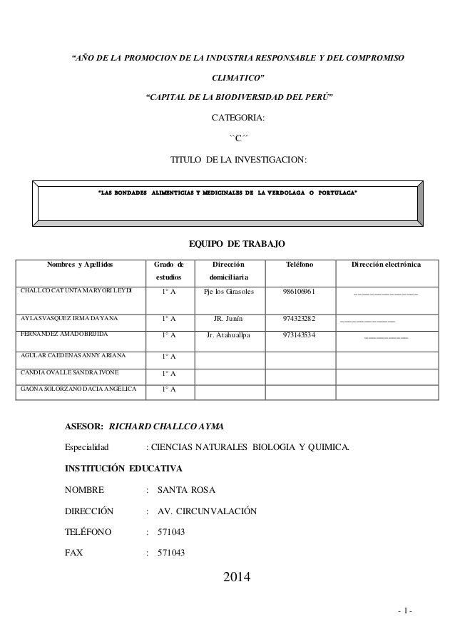 """- 1 - """"AÑO DE LA PROMOCION DE LA INDUSTRIA RESPONSABLE Y DEL COMPROMISO CLIMATICO"""" """"CAPITAL DE LA BIODIVERSIDAD DEL PERÚ"""" ..."""