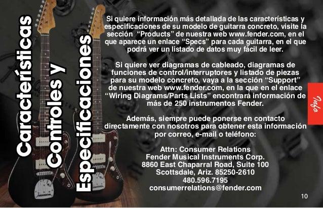 Fender Electric Guitars Manual  2011  Spanish