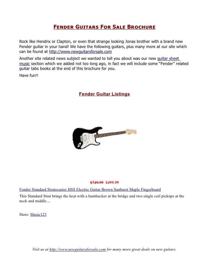 fender guitars for sale. Black Bedroom Furniture Sets. Home Design Ideas