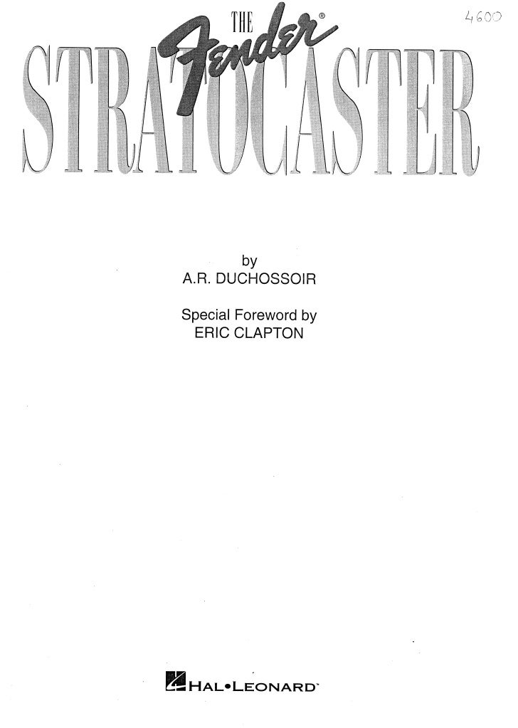 Fender stratocaster(the book)