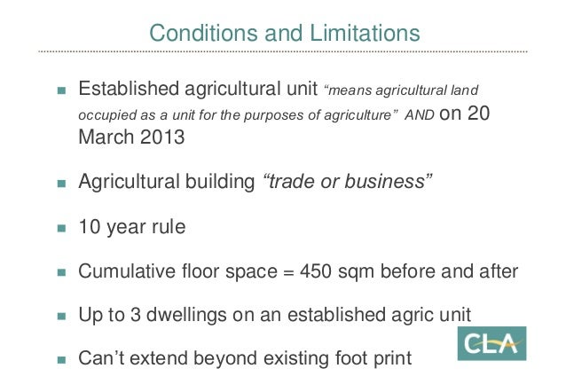 Permitted Development Rights for Change of use of Farm ...